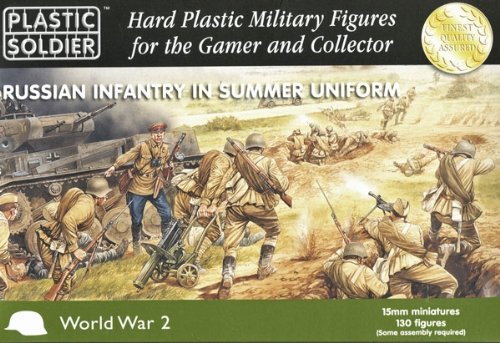 15mm WWII - Russian: Russian Infantry in Summer Uniform (130)