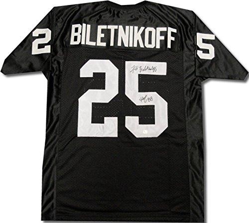 Fred Biletnikoff Hand Signed Autographed Oakland Raiders Jersey HOF 88 GA COA
