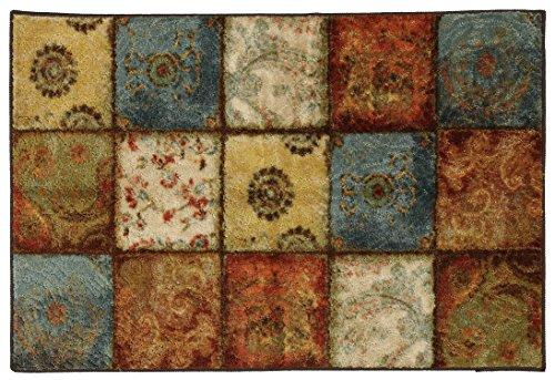 Mohawk Home Free Flow Artifact Panel Printed Rug, 2'6x3'10, Multi (Brown Leaf Area Rug)