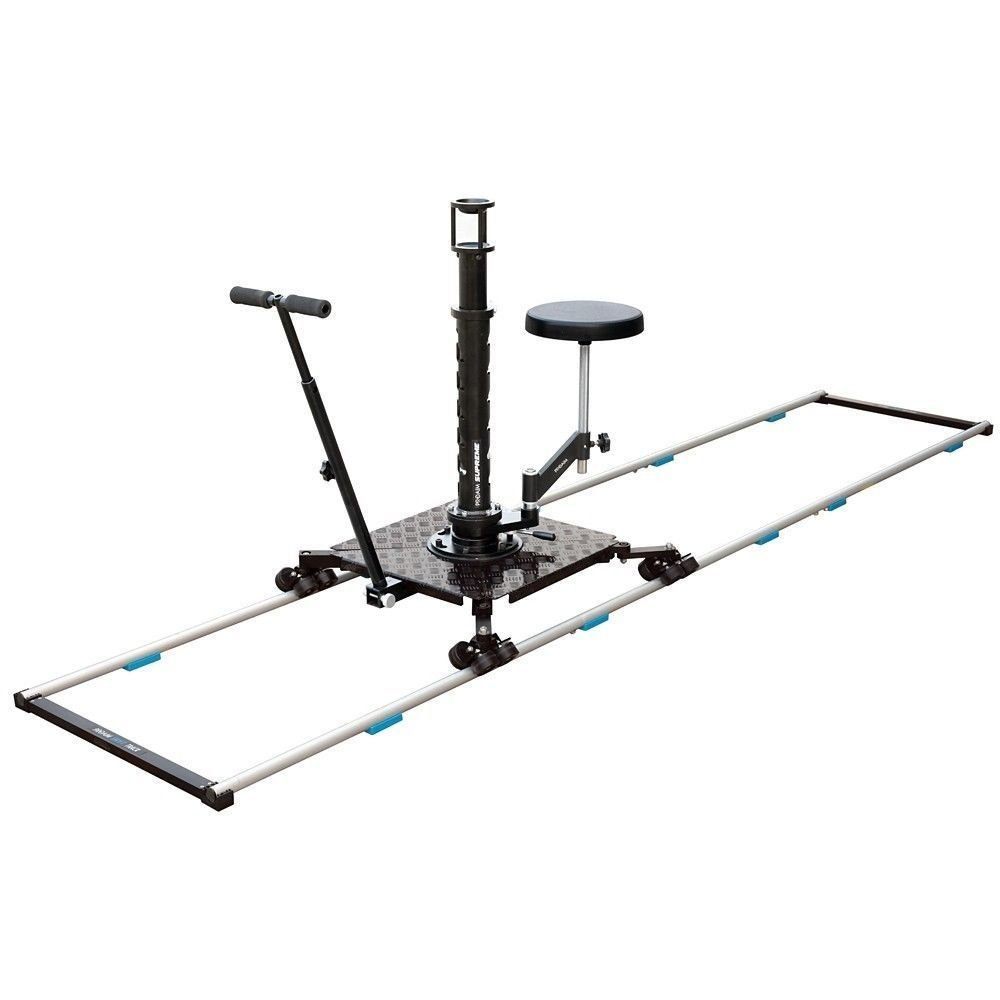 New! PROAIM Supreme Professional Cinema Dolly + 12ft Straight Track, Bazooka, Seat + Flight Cases | Heavy-Duty Aluminum Dolly for Video Movie Film Production for Cameras up to 150kg/330lb (DL-254-00) by PROAIM