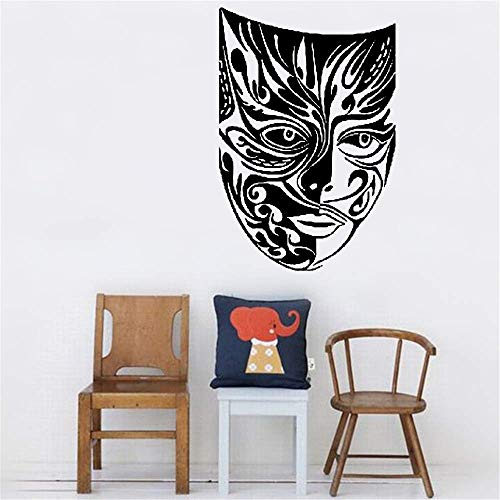 Jiualy Quotes Wall Stickers Removable Vinyl Art Wall Decal Mask Masquerade Theatre Arts Pattern ()