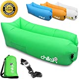 ChillaX Inflatable Lounge Airbed with Carry Bag and Bottle Opener, Green