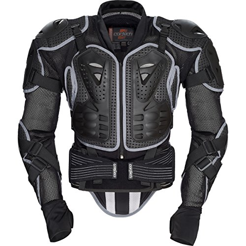 Cortech Accelerator Protector Men's Armored Street Racing Motorcycle Jacket - Black / Large/X-Large - Joe Rocket Textile Motorcycle Jacket