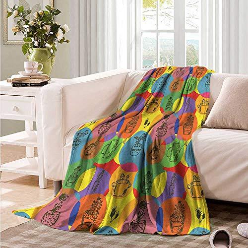 Oncegod Super Soft Blanket Cactus House Plants with Thorn Portable Car Travel Cover Blanket 60