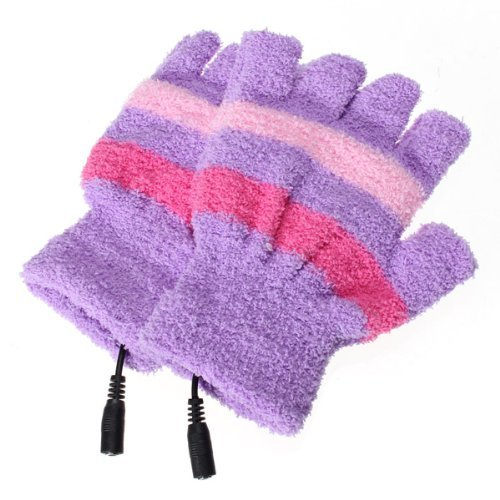 [해외]USB 장갑 장갑 MCOO에 의해 손 모직 핑거리스 난방 따뜻한 지구/USB Gloves Mittens Hand Woolen Fingerless Heating Warmer Strip by MECO