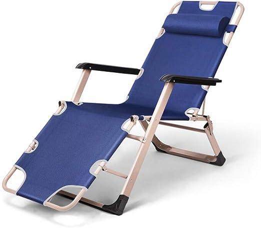 LICCC Tumbona sofá Cama reclinable Plegable Patio Exterior Muebles de jardín (Color : Blue): Amazon.es: Hogar