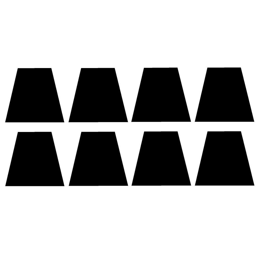 消防士ヘルメットtetrahedron-trapezoids B0778TVL22 v1ビニールデカール8パックby stickerdad – サイズ2インチ、カラー反射ブラック – – – Windows、壁、バンパー、ノートパソコン、ロッカー、など。 B0778TVL22, THE BAG GALLERY バッグギャラリー:37d2e58a --- harrow-unison.org.uk