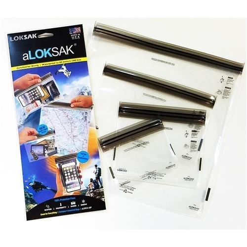 - LokSak aLokSak Assorted Waterproof Resealable Storage Bags, Set of 4 (4x7, 6x6, 9x6, 12x12), Clear