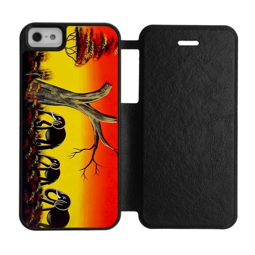 Generic Customize Unique Vintage Elephant Design Silicone Rubber and Plastic White Black and Red Case Cover for iPhone5 iPhone5S (John Deere Phone Cases 5c)