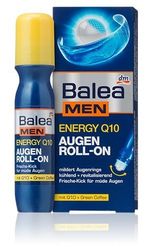 Balea Men Energy Q10 Eye-Zone Roll-on For Tired Eyes - No Animal Testing - 15ml