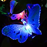 Solar String Light, ELINKUME RGB Beautiful Butterfly LED String Light,12ft Muti-color Energy Saving Solar Fairy Lamp,for Outdoor/Garden/Patio/Christmas/Wedding/Holiday/Party