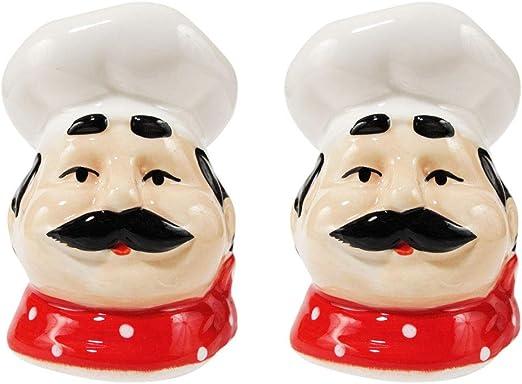 Amazon Com Fat Chef Kitchen Accessories French Chef Decor For Kitchen Home Bakery Restaurant Salt Pepper Shakers Chef Leone Kitchen Dining