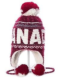 Robin Ruth - Maroon Canada Fuzzy Pompon Tuque
