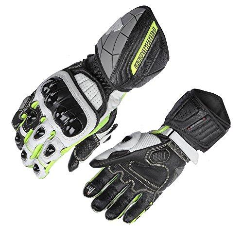 (Fieldsheer Unisex-Adult Race-Pro Gloves (Black/White/Hi-Viz, X-Large))