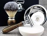 Classic Old-school Men's Shaving Set >Synthetic