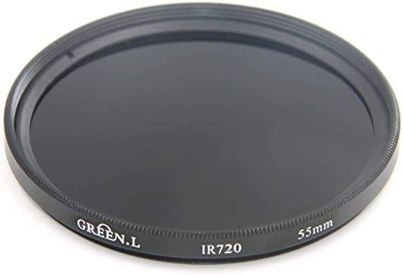 Green.L 25mm IR 720 Glass Infrared X-Ray Filter 720nm IR Filter for Camera Lens Digital DSLR SLR