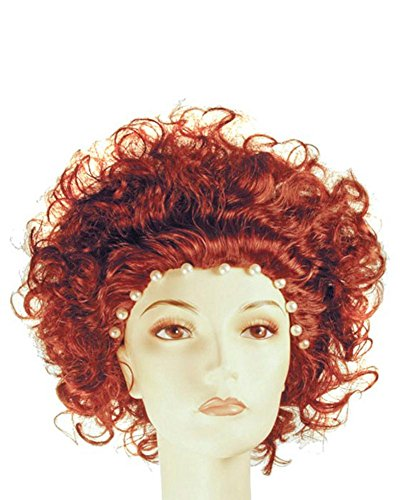 This Is England Costume (Deluxe Queen Elizabeth I England Wig Virgin Monarch Tudor Halloween Theater Lacey Costume - Bright Auburn)