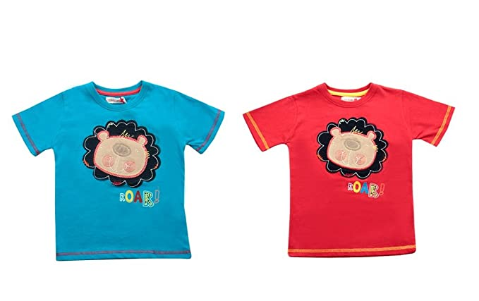 Coolclub ragazzi cool club lion roar applique maglietta maniche