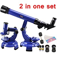 New Telescope Microscope Set Science Nature Educational Astronomy Learning Kids Toy By KTOY