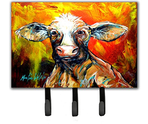 Caroline's Treasures MW1225TH68 Another Happy Cow Leash or Key Holder, Triple, Multicolor