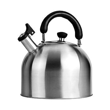Whistle 304 Estufa de Gas Cocina de inducción Caldera de Gran Capacidad Cocina de inducción Caldera de Acero Inoxidable Universal MUMUJIN (Capacidad : 3L): ...