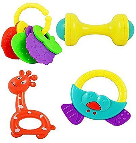 higadget Rattles for Little Babies, 4 Cute Toys for Toddlers, Baby Rattles for Little Babies (4 Rattle Set)