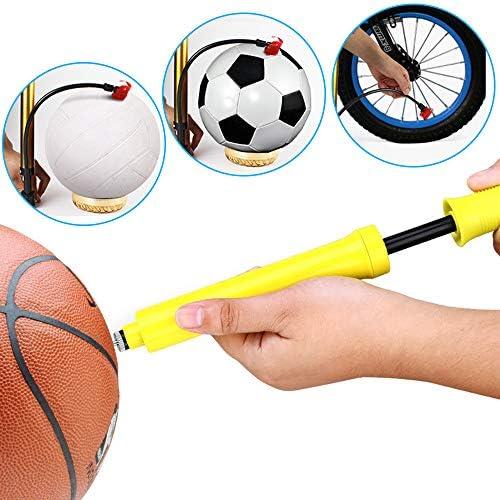 Baloncesto Mila-Amaz 6Pcs Agujas para inflar Balones de Acero Inoxidable Agujas de Bomba Pelota Inflar Bomba Aguja Adaptador para Balones Deportivos F/útbol