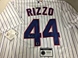 Anthony Rizzo Autographed Signed Authentic Majestic White Chicago Cubs Jersey Certified Authentic Hologram & Coa Card