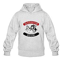 Buluew Men's Geek Slaughterhouse Hoodies Sweatshirt Size US White