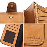 RFID Womens Wallets Fashion PU Leather Trifold