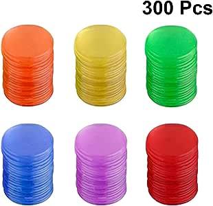 Toyvian Juego de Mesa de fichas de fichas de plástico Juego de fichas Juego de fichas Piezas Coloridas Monedas Juguetes 300pcs (Color Surtido): Amazon.es: Juguetes y juegos