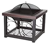 Fire Sense Cocktail Table Fire Pit, Hammer Tone Bronze Finish supplier_id_teestoppers53; TRYK190112075796911