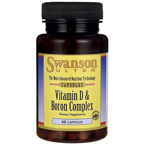 Swanson Vitamin D & Boron 60 Capsules