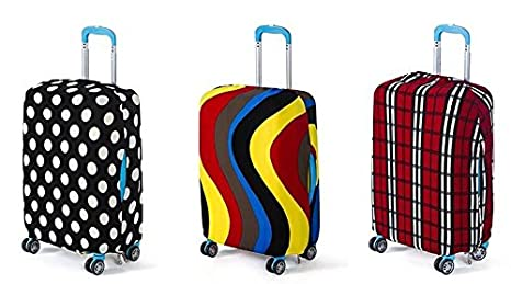 Amazon.com | Large Protective Spandex Elastic Suitcase Cover for 26-30 inch Travel Bags. (Large, Multicolor Random) | Luggage