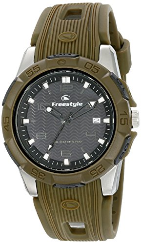 Freestyle 10016968 Kampus Men's Analog Round Stainless Steel Watch Green Rubber Strap - Freestyle Mens Green