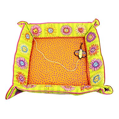 Quick shopping Flowery Cat Pattern Cat Nest with Butterfly Catnip Toy