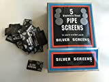 10 X Packs Of 5 Pipe Screens 20mm Silver Stainless Steel Gauze Chillum Tobacco