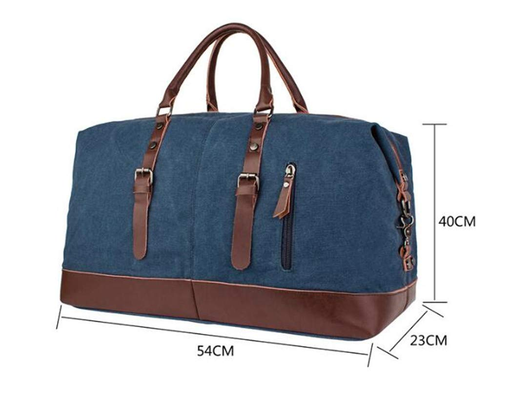 Large Capacity Men H Luggage Travel Bags Foldable Canvas Leather Bags Weekend Multifunctional Folding 4