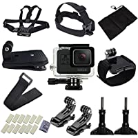 niceEshop(TM) Accessories for GoPro,15 Essential Accessories Bundle Kit for GoPro Hero 5 for Parachuting Climbing Diving Swimming Surfing Rowing Running Cycling Camping