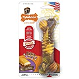 Nylabone Flavor Frenzy Dura Chew Power Chew Philly Cheesesteak Flavored Bone Dog Chew Toy, Wolf