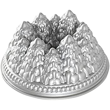 Nordic Ware Pine Forest Bundt Pan, Metallic
