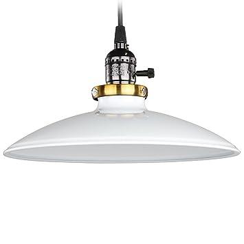 COLLEER Vintage - Lámpara de techo (esmalte, clásico, estilo ...