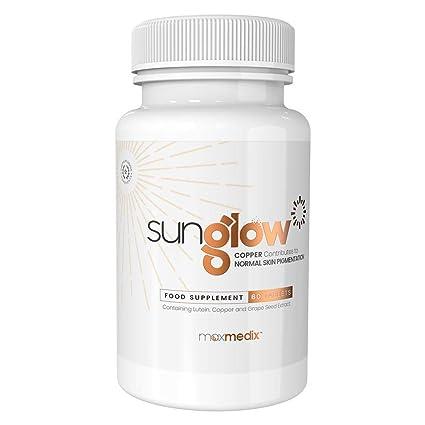Sunglow de MaxMedix - Suplemento Natural Para El Bronceado - Con L-tirosina, Extracto