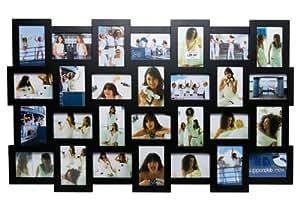 Invotis - Marco para 28 fotos, color negro