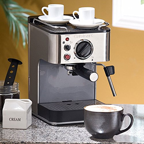 Cuisinart Coffee Maker Just Steams : Cuisinart Stainless Steel 1000-Watt 15-Bar Espresso Maker with Stainless Steam Nozzle Built-In ...