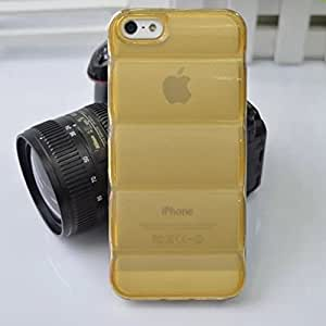 New Arrival!mystory Soft TPU Case for Iphone 5/5s Prevent Scratch, Shockproof Protective Bumper Cover Shell with Good Hand Feeling(Retail Package)-Gold