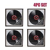 Ardisle 4 X Vinyl Record Frame Retro LP Album Cover Frame Wall Display 12'' art Case For Hnaging