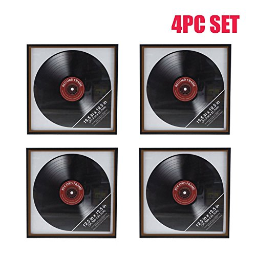 Ardisle 4 X Vinyl Record Frame Retro LP Album Cover Frame Wall Display 12'' art Case For Hnaging by Ardisle