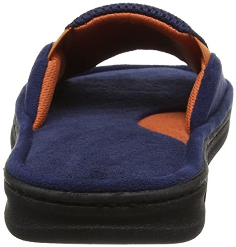 Dearfoams Slide - Pantuflas Hombre azul (PEACOAT)