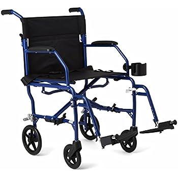 Amazon.com: Medline MDS808210ABE Aluminum Transport Chair ...